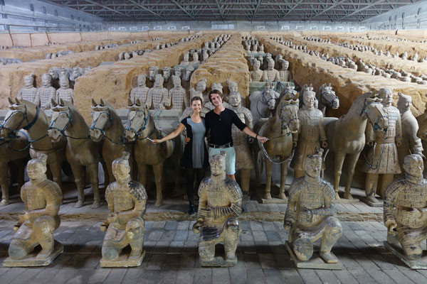 Terrakotta Armee Xian Ausgrabungsstätte Pit 2