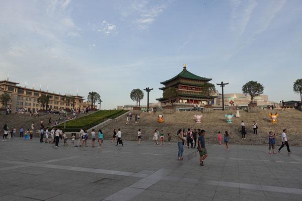 Xian Sehenswürdigkeiten Bell Tower Glockenturm