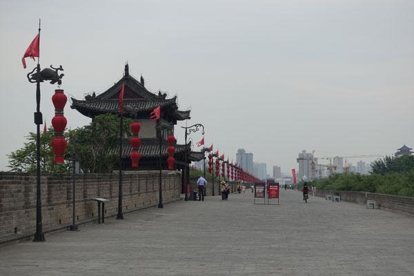 Xian Sehenswürdigkeiten Stadtmauer