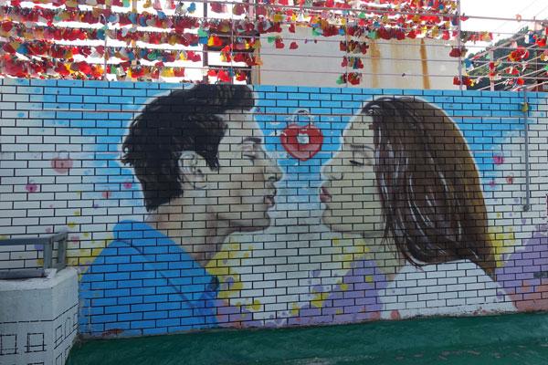 Busan Sehenswürdigkeiten Gamcheon Culture Village Streetart