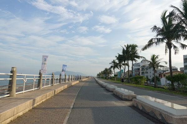 Hualien Taiwan Fahrradtour entlang der Ostküste Weg zum Pacific Park