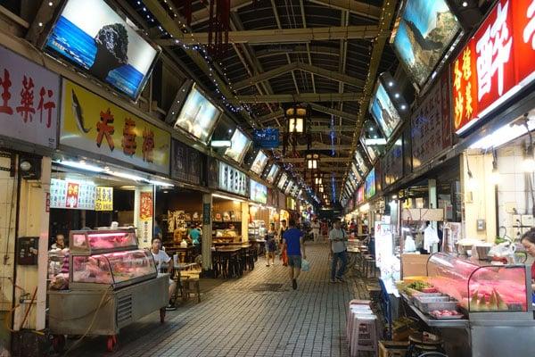 Taipei Sehenswürdigkeiten Huaxi Nightmarket