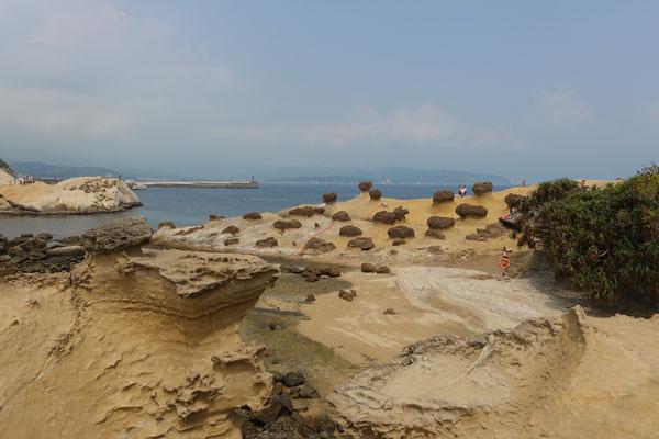 Yehliu Geopark Tagesausflug von Taipeh Überblick über den Yehliu Geologiepark