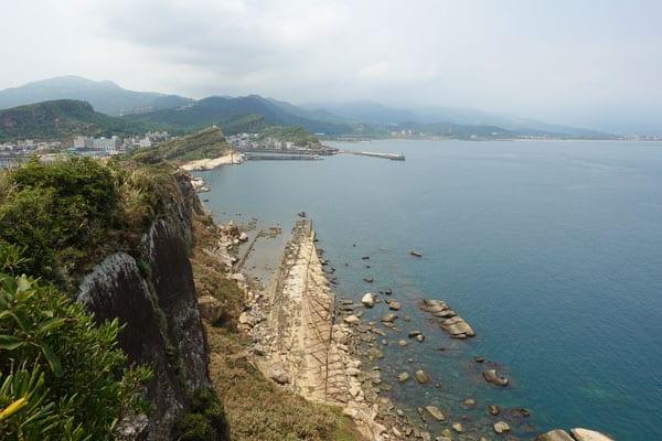 Yehliu Geopark Tagesausflug von Taipeh Figuren erster Abschnitt Aussicht