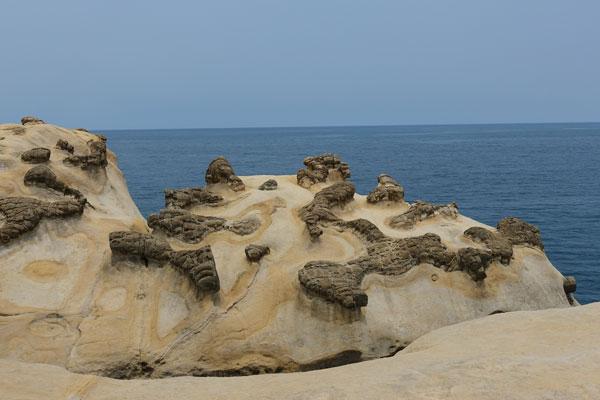 Yehliu Geopark Tagesausflug von Taipeh Figuren erster Abschnitt Ginger Rock