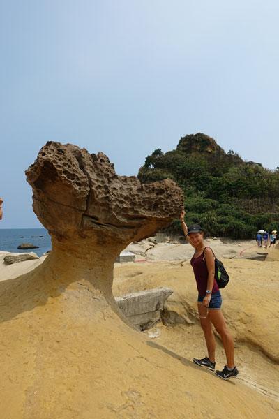 Yehliu Geopark Tagesausflug von Taipeh Figuren erster Abschnitt Dragon Rock
