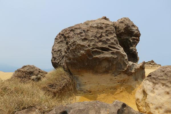 Yehliu Geopark Tagesausflug von Taipeh Figuren erster Abschnitt Gorilla Rock