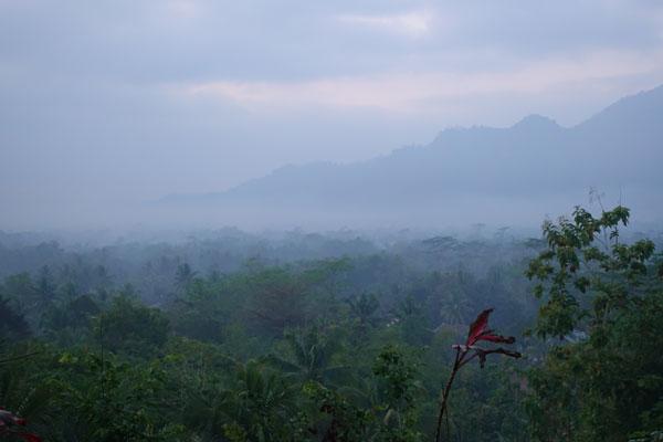 Borobudur Tempel Sonnenaufgang Hügel