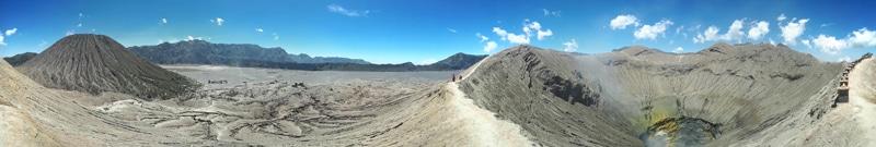 Krater Mount Bromo Panorama