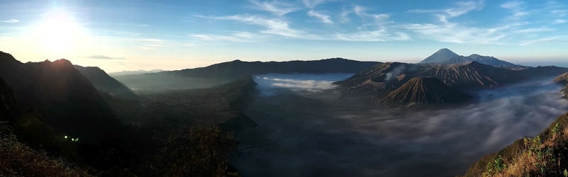 Mount Bromo Panorama King Kong Hill