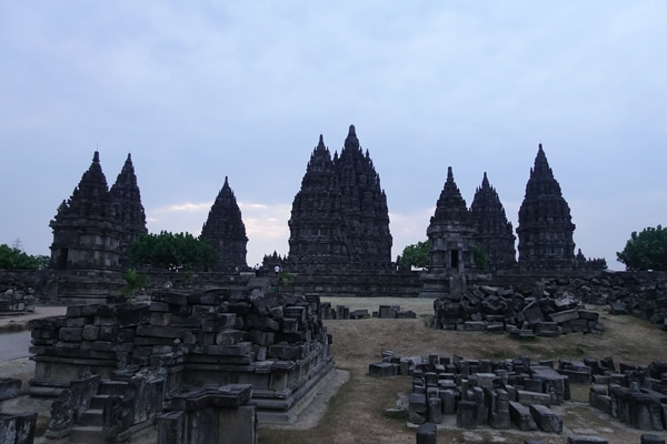 Prambanan Tempel Sonnenuntergang